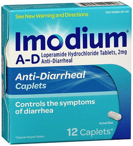 Imodium A-D Anti-Diarrheal Caplets - 12 ct