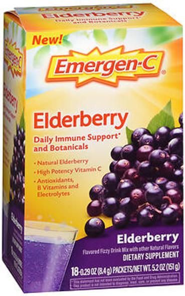 Emergen-C Elderberry Dietary Supplement Packets  - 18 ct