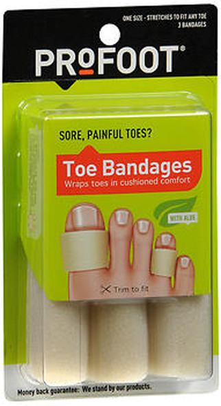 ProFoot Toe Bandages One Size - 3 ct
