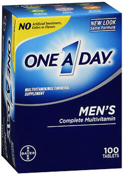 One A Day Men's Complete Multivitamin Tablets - 100 ct