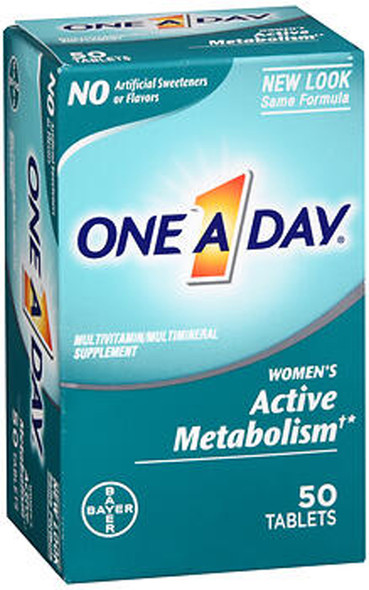 One A Day Women's Active Metabolism Multivitamin/Multimineral Supplement Tablets - 50 ct