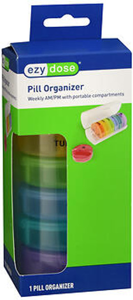 Ezy Pill Organizer Weekly AM/PM with Portable Compartments  - 1 ea  #70310