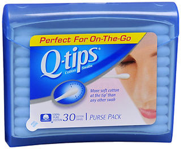 Q-tips Swabs Purse Pack - 30 ct