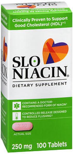 Slo-Niacin 250 mg Tablets - 100 ct