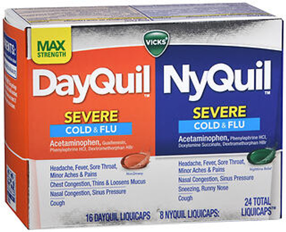 DayQuil/NyQuil Severe Cold & Flu LiquiCaps - 24 ct