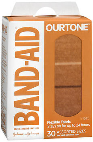 BAND-AID OurTone Adhesive Bandages Assorted Sizes BR45 - 30 ct