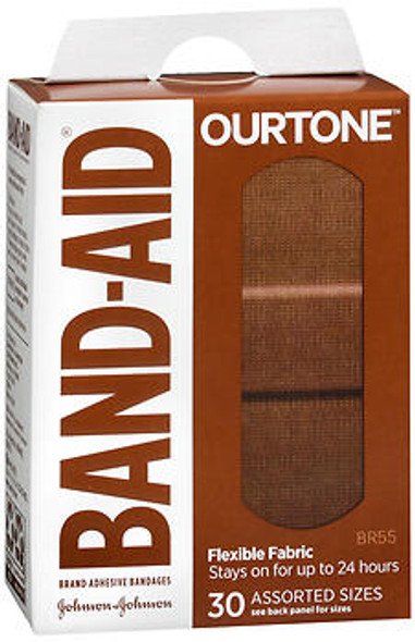 BAND-AID OurTone Adhesive Bandages Assorted Sizes BR55 - 30 ct
