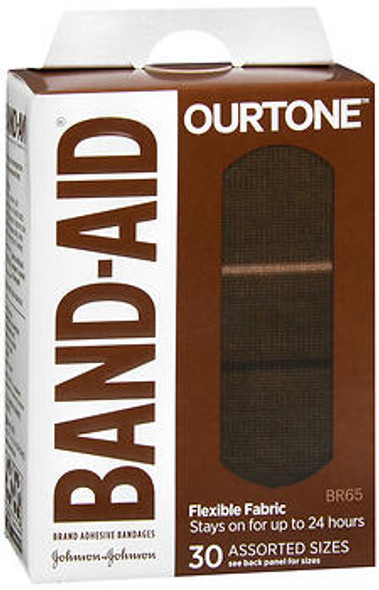 BAND-AID OurTone Adhesive Bandages Assorted Sizes BR65 - 30 ct