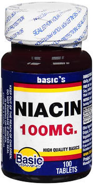 Basic Vitamins Niacin 100 mg Tablets - 100 ct