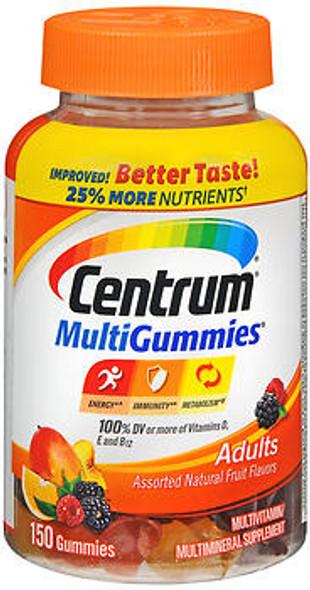 Centrum MultiGummies Adults Assorted Natural Fruit Flavors - 180 ct