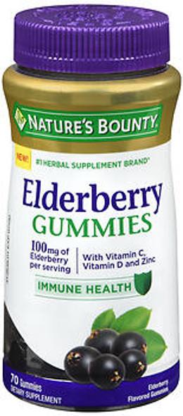 Nature's Bounty Elderberry Gummies - 70 ct