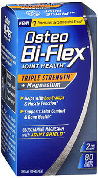 Osteo Bi-Flex Joint Health Triple Strength + Magnesium Coated Tablets - 80 ct
