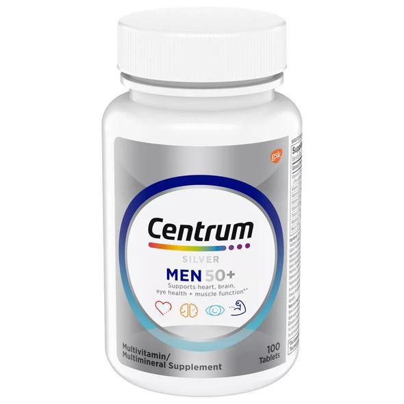 Centrum Silver Men 50+ Multivitamin/Multimineral Supplement Tablets - 100 ct