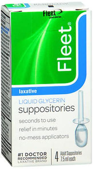 Fleet Liquid Glycerin Suppositories - 4 pack, 7.5 ml each
