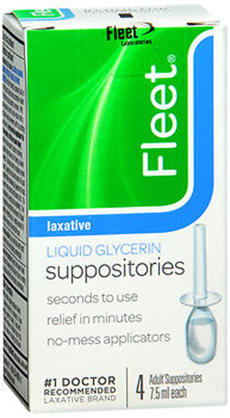 Fleet Liquid Glycerin Suppositories - 4 pack, 7.5 ml each