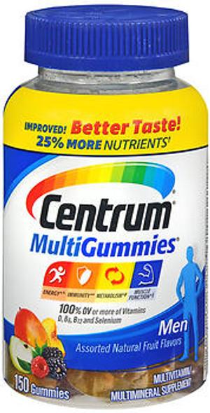 Centrum MultiGummies Men Assorted Natural Fruit Flavors - 170 ct