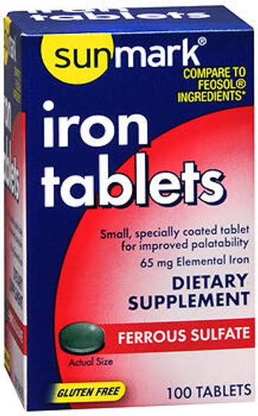 Sunmark Iron Tablets - 100 ct