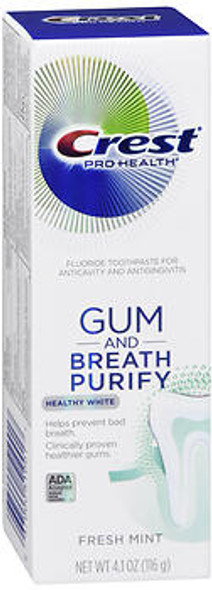 Crest Pro-Health Gum and Breath Purify Healthy White Fluoride Toothpaste Fresh Mint - 3.7 oz