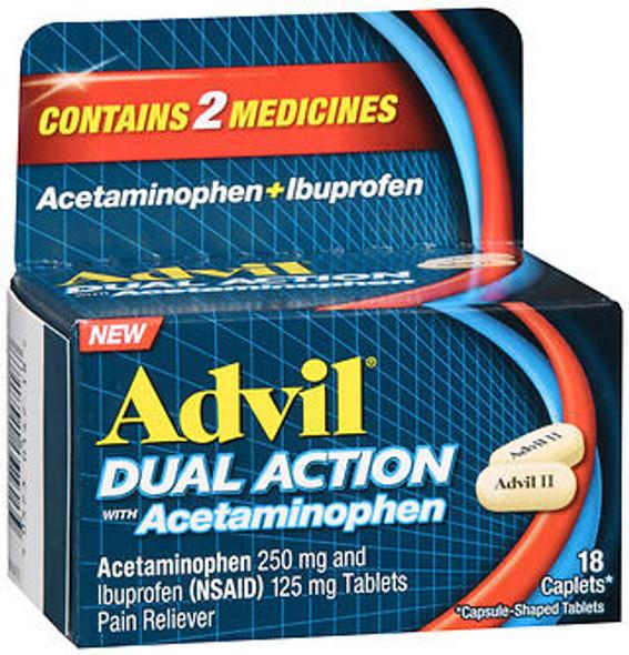Advil Dual Action with Acetaminophen Caplets - 18 ct