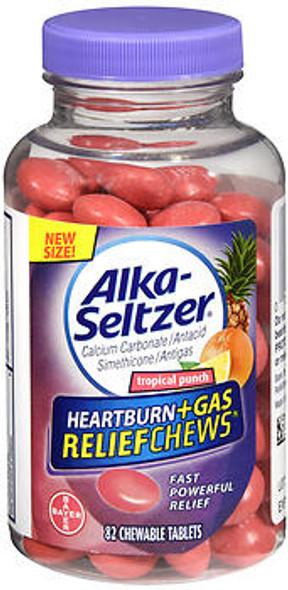 Alka-Seltzer Heartburn + Gas Relief Chews Tropical Punch - 110 ct