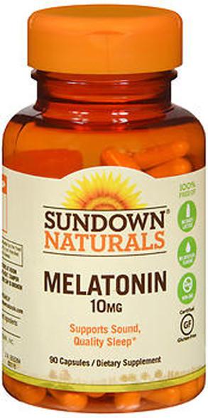 Sundown Naturals Melatonin 10 mg Capsules, Maximum Strength - 90 ct