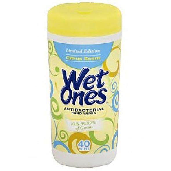 Wet Ones Antibacterial Moist Wipes Citrus Scent - 40ct