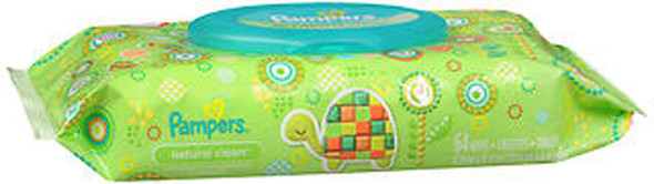 Pampers Wipes Natural Clean - 72 ct