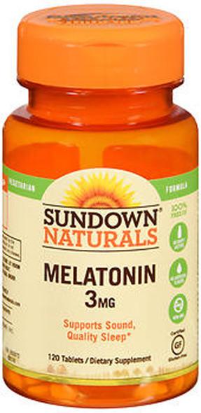Sundown Naturals Melatonin 3 mg Tablets - 120 ct