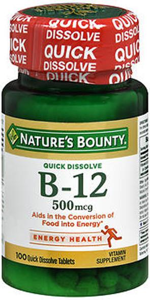 Nature's Bounty Vitamin B-12 500 mcg Microlozenges Natural Cherry - 100 ct