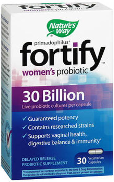 Nature's Way Primadophilus Fortify Women's Probiotic Vegetarian Capsules - 30 ct