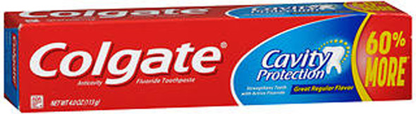Colgate Cavity Protection Toothpaste Great Regular Flavor - 4.6 oz