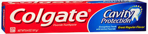 Colgate Cavity Protection Toothpaste Great Regular Flavor - 6.4 oz