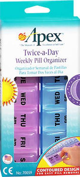 Apex Twice-A-Day Weekly Pill Organizer - 1 each