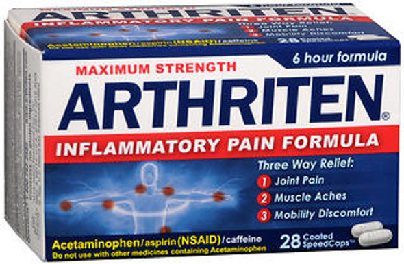 Arthriten Maximum Strength Inflammatory Pain Formula -28 Coated SpeedCaps