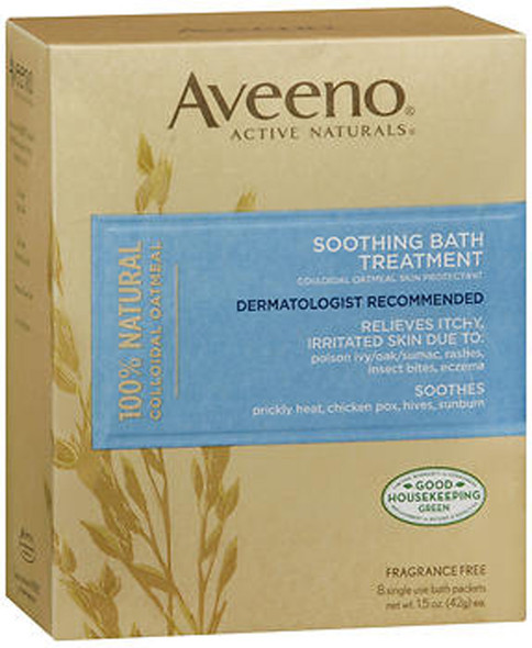Aveeno Active Naturals Soothing Bath Treatment - 8 - 1.5 oz packets