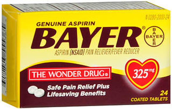 Bayer Aspirin 325 mg - 24 Coated Tablets