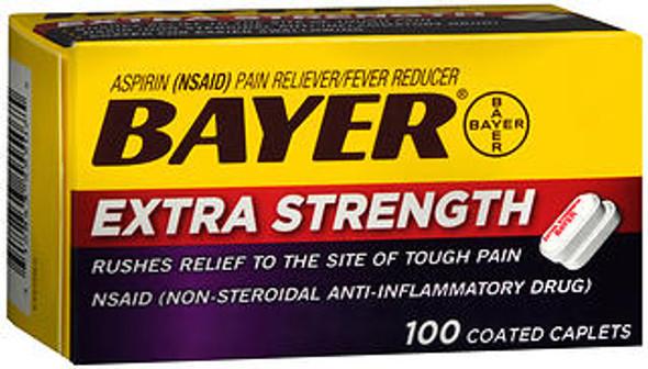 Bayer Extra Strength Aspirin Caplets - 100 Coated Caplets