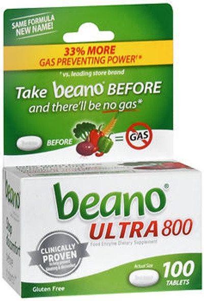 Beano Food Enzyme Dietary Supplement Tablets - 100 ct