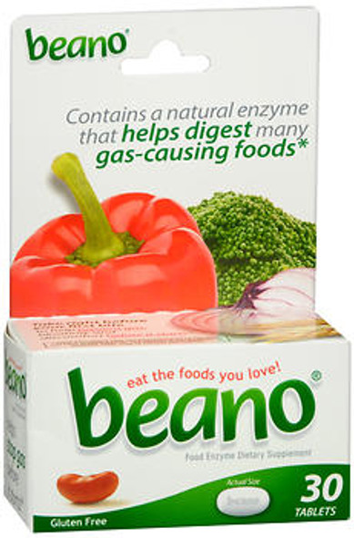 Beano Food Enzyme Dietary Supplement- 30 Tablets