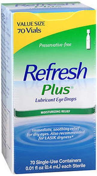 Refresh Plus Lubricant Eye Drops Single-Use Containers - 70 ea.