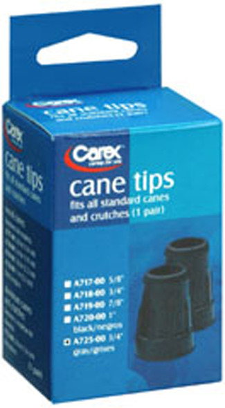 Carex Cane Tips 3/4 Inch-2 each Grey