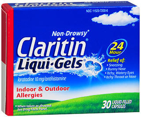 Claritin 24 Hour Allergy Non-Drowsy - 30 Liqui-Gels