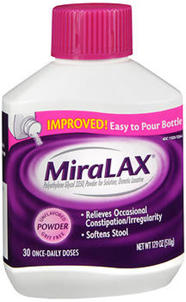 MiraLAX Powder Unflavored  17.9 oz