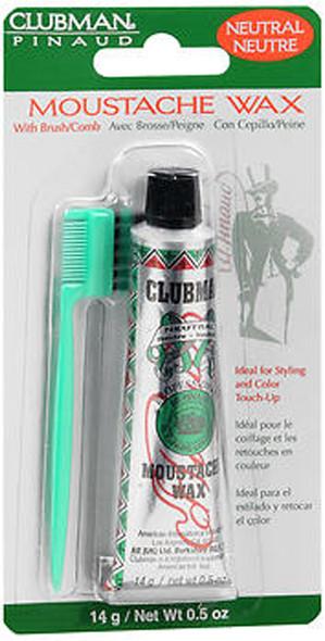 Clubman Pinaud Moustache Wax Neutral - 0.5oz