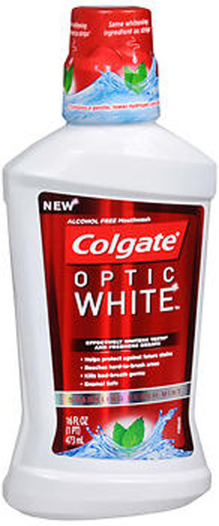 Colgate Optic White Mouthwash Sparkling Fresh Mint - 16 oz