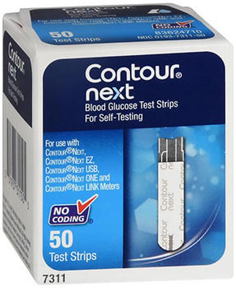 Contour Next Blood Glucose Test Strips - 50 Strips