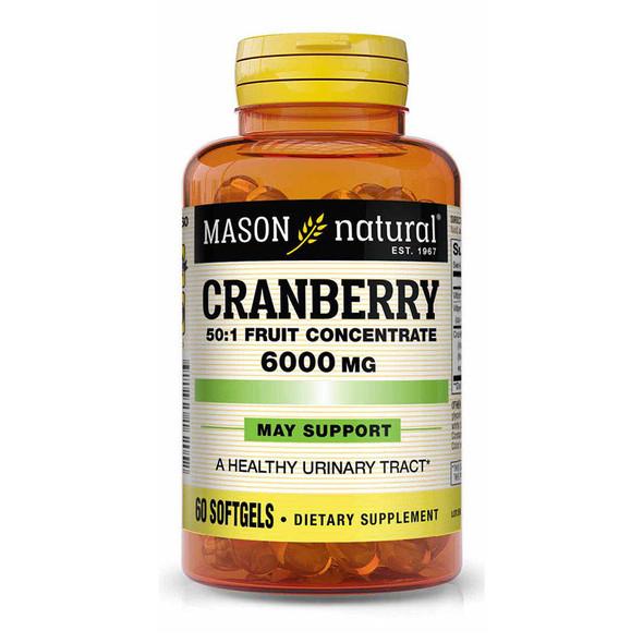 Mason Natural Cranberry 6000 mg Super Strength - 60 Softgels