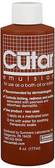 Cutar Emulsion Tar Solution For Bath Oil or Lotion - 6oz