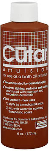 Cutar Emulsion Tar Solution For Bath Oil or Lotion - 6oz