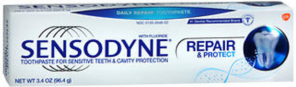 Sensodyne Repair & Protect Toothpaste for Sensitive Teeth & Cavity Protection - 3.4 oz